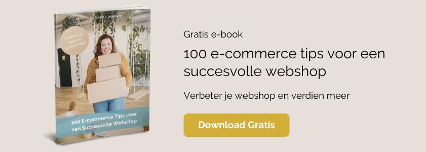 100 e-commerce tips voor een succesvolle webshop