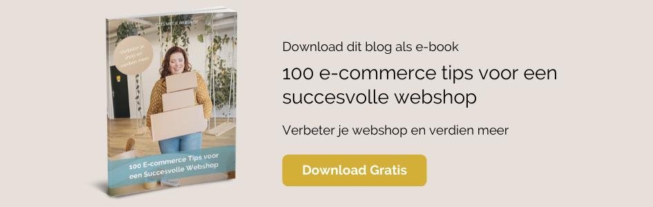 E-book 100 e-commerce tips voor een succesvolle webshop