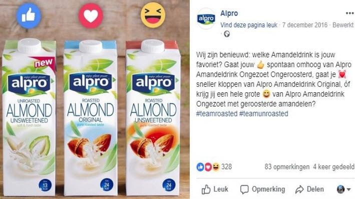 Alpro doet op creatieve wijze marktonderzoek