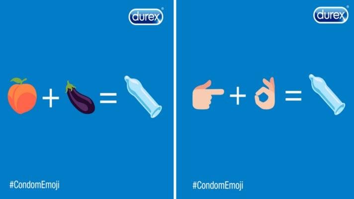 Durex maakt zich hard voor een condoom emoji