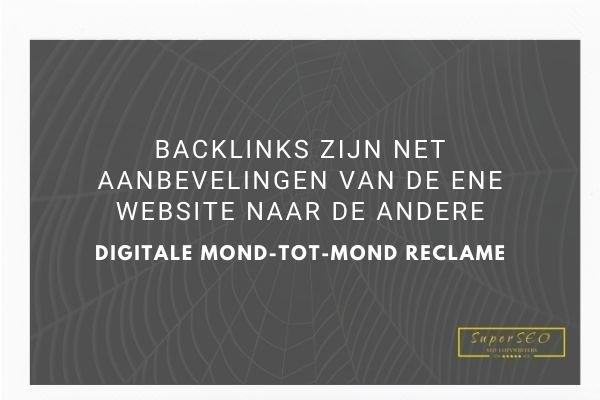 Wat zijn backlinks.