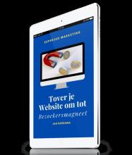 Een handig e-book vol tips om marketing toe te passen op jouw website.