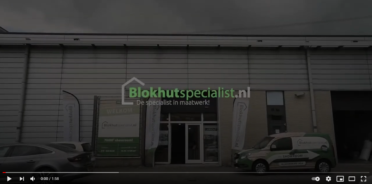 Een blokhut koop je bij Blokhutspecialist