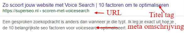 Meta data voor voice search.