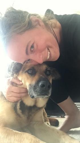 Supervisor Sanne houdt van hond