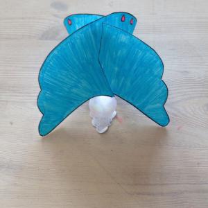 engel voor kerst knutselen van papier
