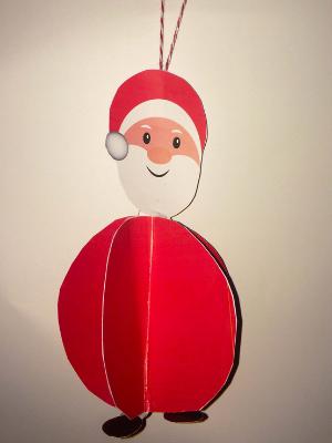 kerstman van papier knutselen