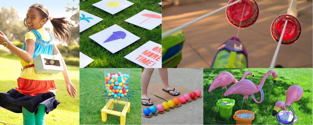 Spelletjes kinderfeestje, buitenspelletjes in de zomer