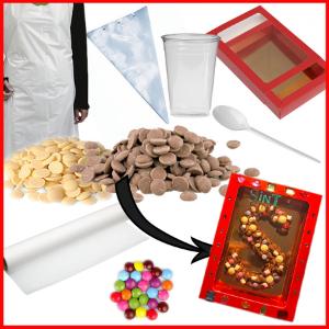 knutselpakket chocoladeletter maken