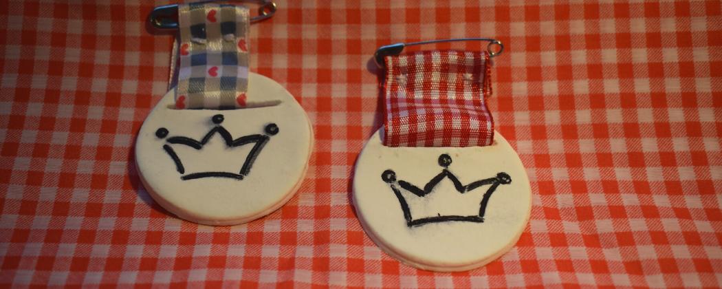 Koningsdag medailles knutselen