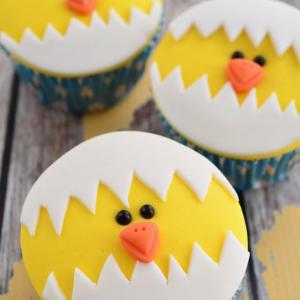 lente kinderfeestje cupcakes