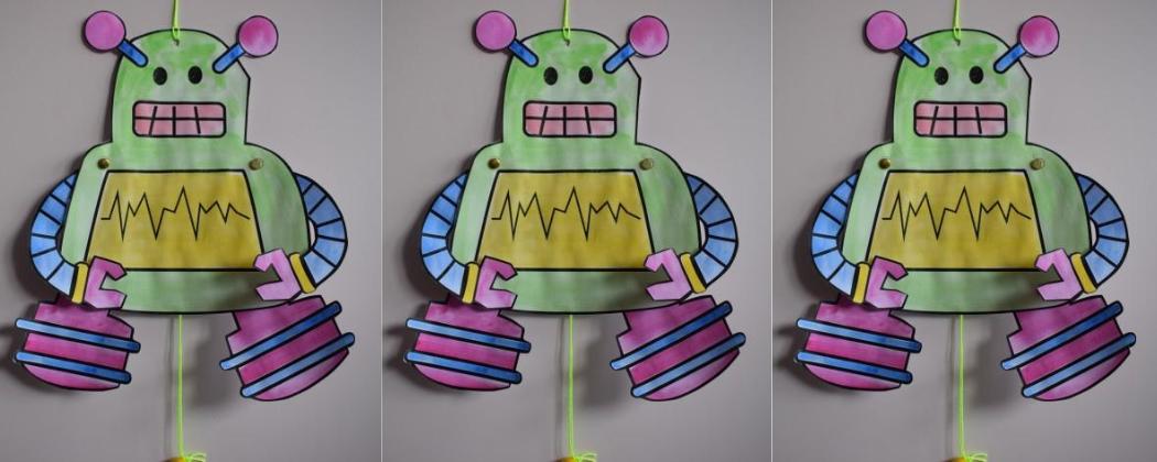 Robot trekpop knutselen