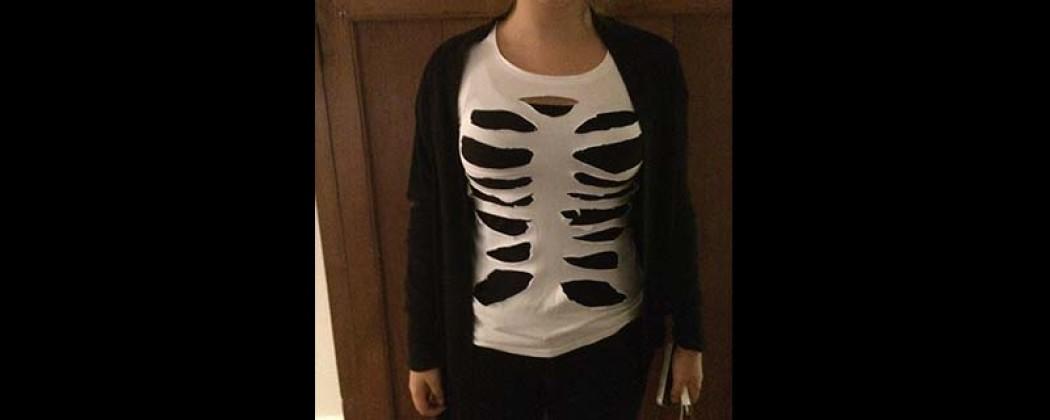 Spiksplinternieuw Halloween kostuum: een skelet shirt NH-81