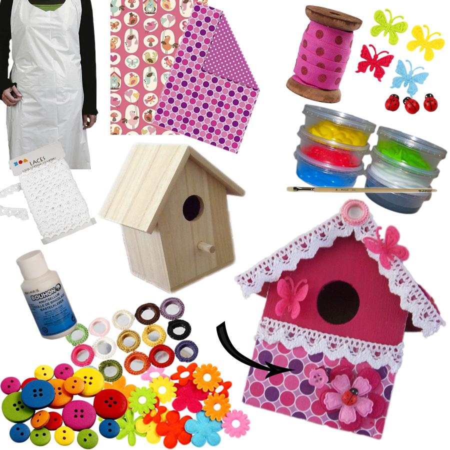 Geliefde Knutselpakket voor je kinderfeestje, Knutsel samen iets leuks!! EP95