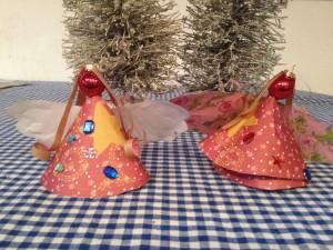 Een kerstengel knutselen voor in de kerstboom,
