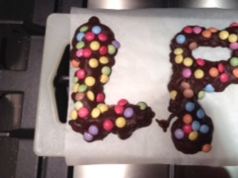 Chocoladeletters maken