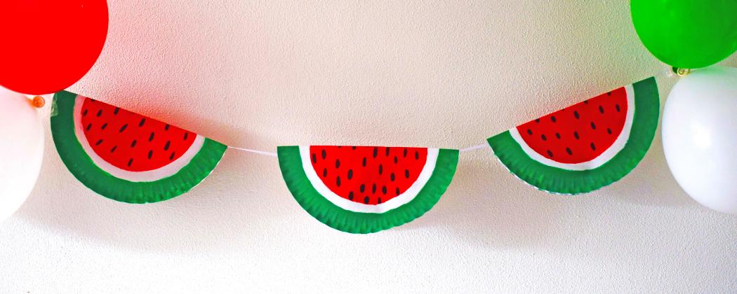 Zomer decoratie: een meloenslinger