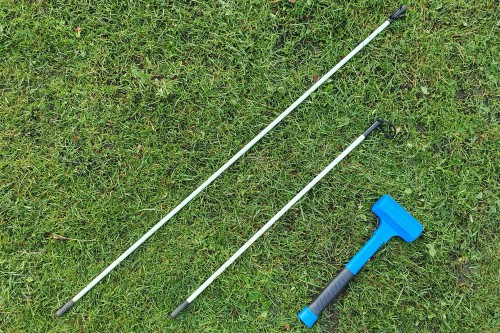 Soil Redox probe drill set - short and long version with non-repercussion hammer | SWAP instruments
