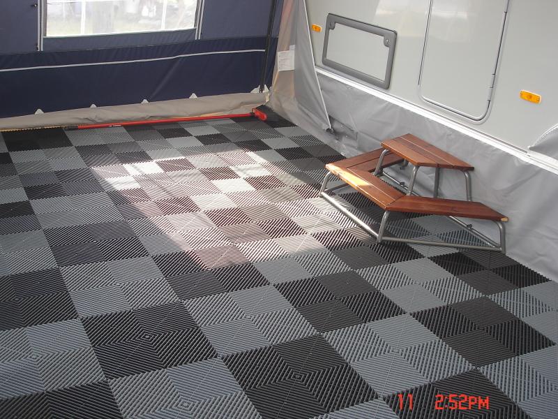 Ribdeck Antislip Vloertegels Caravan