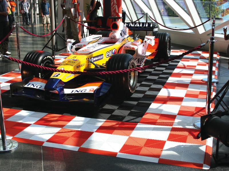 Beursvloer voor Racewagen