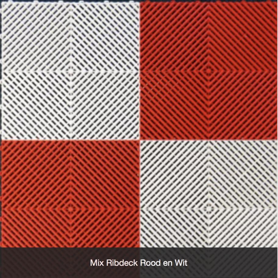 Mix Ribdeck Rood en Wit