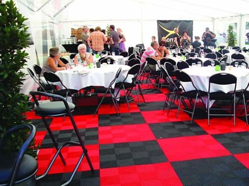 Mobiele evenementen vloer