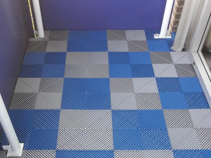 Balkonvloer-blauw