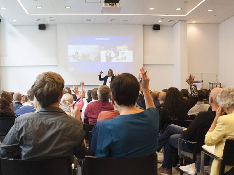 social media training gegeven op de hogeschool van Rotterdam