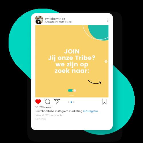 Voorbeeld van instagram feed. Instagram is een belangrijk platform voor social media marketing