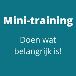 mini-training Doen wat belangrijk is - Tandemkracht