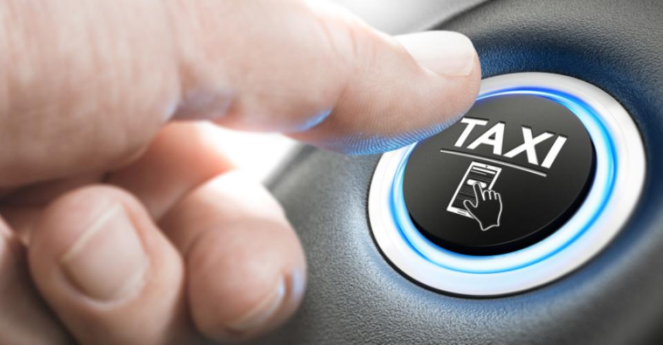 Taxi - online taxi bestellen knop