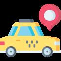 Taxi met google maps icoon