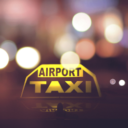 airport taxi licht