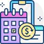 Kalender en dollar munt