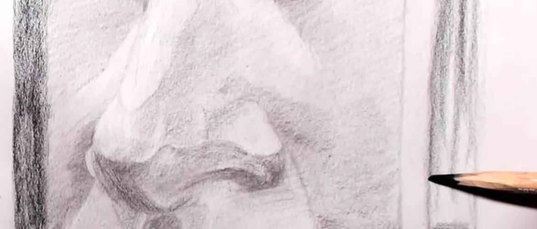 Hoe teken je een neus?