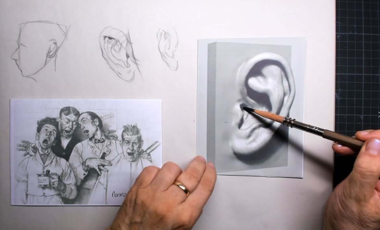 Perspectief van het oor verandert