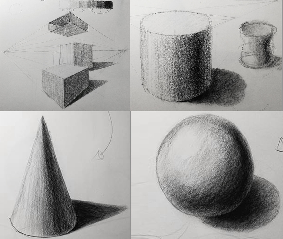 Kubus, cilinder, kegel en bol