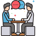 Strategisch plan bespreken icon