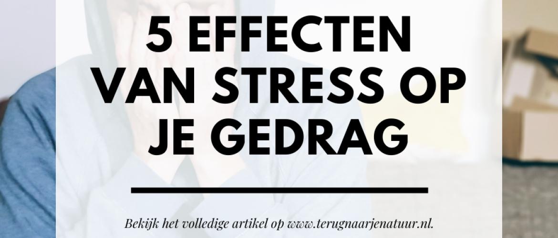 Wat zijn de effecten van stress op je gedrag, emoties en denkwijze? Dit zijn de gevolgen van stress op de mind