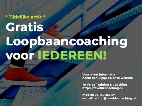 Gratis loopbaancoaching TeVeldeCoaching.nl