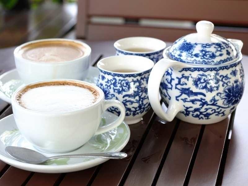 koffie en thee drinken op texel