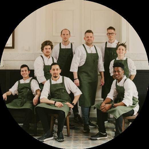 The Kitchen Team of August, restaurant Antwerp
