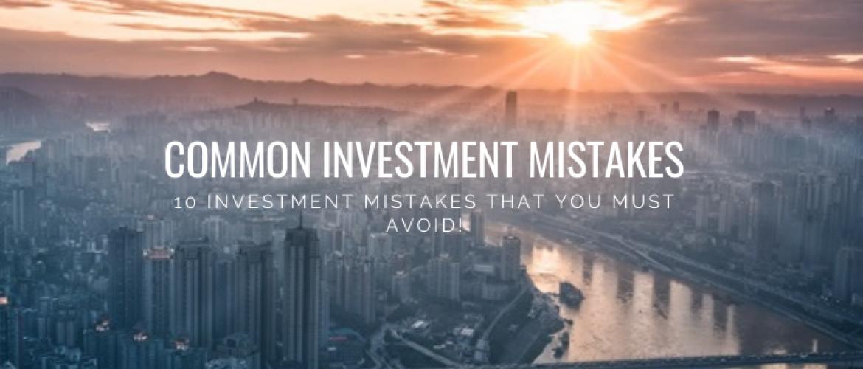 10 Biggest Investors Mistakes to Avoid as Beginner