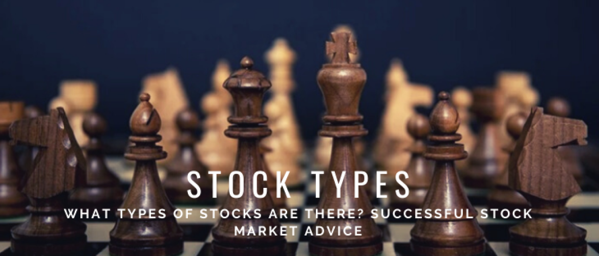 What types of stocks are there? Successful Stock Market Advice