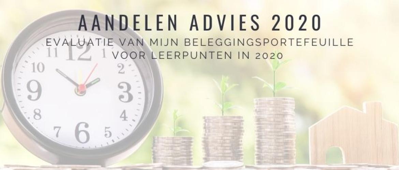 Aandelen advies 2020: Beleggingsportefeuille Jaar Evaluatie