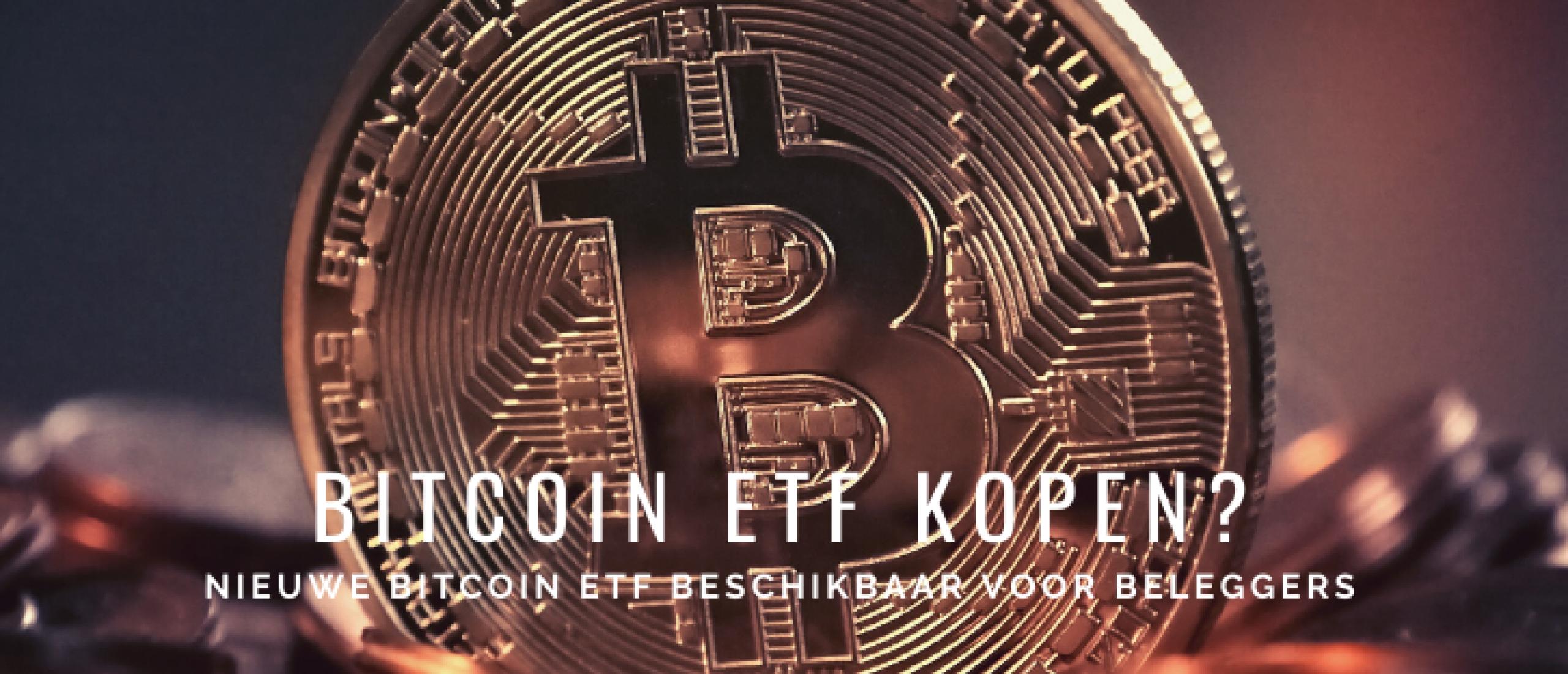 Bitcoin ETF Kopen? Nieuw: ProShares Bitcoin Strategy ETF