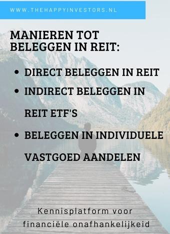manieren tot beleggen in REIT