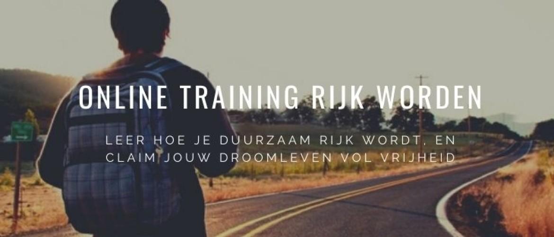 Online training rijk worden? Dit is de beste investering in jezelf!