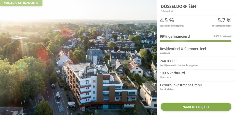 voorbeeld vastgoed beleggen Exporo