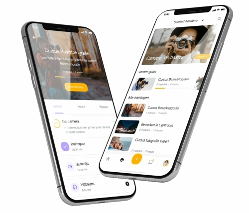 E-learning app voor online trainingen